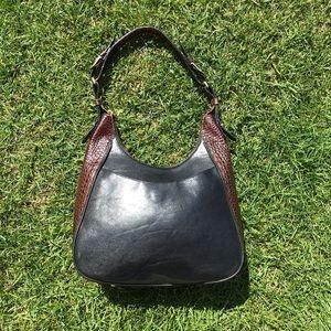 Brahmin Tuscan Collection Black Shoulder Bag Purse